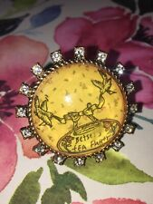Betsey Johnson Vintage Tea Party Lucite Ring
