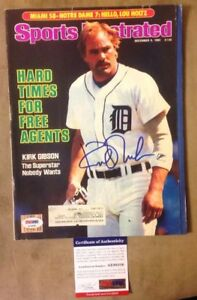 Kirk Gibson PSA Authenticated Signed Sports Illustrated Magazine Dec 9th 1985