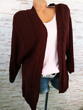 4c804ee6aa837b Neues Angebot♥ Italy STRICKJACKE Damen Cardigan Wolle Strick Zopfmuster ROT  36 38 40 42 S M