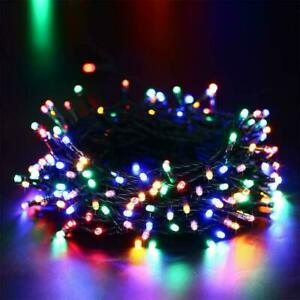 500 LED Solar Powered Fairy String Lights Waterproof Garden Party Multi Color