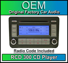 VW RCD 300 CD player Golf MK5 car radio headunit, Supplied with stereo code