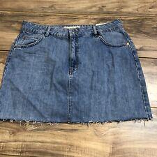 18e342b59a Topshop Moto Women's Blue Denim Jean Skirt Size 12