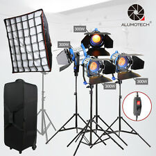 As Arri Dimmer Built-in 300WX4 + softbox Film Fresnel Tungsten Spot light Camera