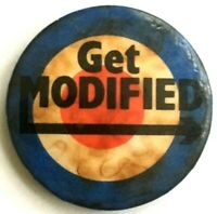 GET MODIFIED - Mod Target - Old Original Vtg 70/80`s Button Pin Badge 32mm