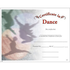 Certificate in Dance, Pack of 15