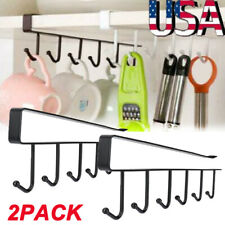 2Pack Kitchen Under Cabinet Towel Cup Paper Hanger Rack Organizer Shelf Holder