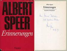 Albert Speer ARCHITECT autograph, signed book