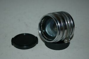 Canon 1.8/50 mm Chrome Rangefinder Lens. 39mm Mount (LTM) Caps. 95961. UK Sale