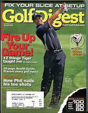 Golf Digest Magazine August 2006 Fire Up Your Game! Tiger Woods EX 022316jhe