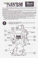 Revell The Phantom instruction sheet only from 1965 model kit.