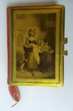 ANTIQUE 1930'S CELLULOID SCENE RED LEATHER USED FIVE YEAR DIARY OF A TEEN BOY