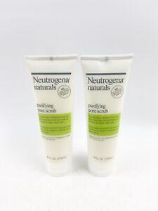TWO Neutrogena Naturals Purifying Pore Scrub 4 fl oz ea Discontinued