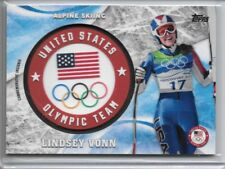 Lindsey Vonn 2018 Topps Winter Olympics Commemorative Insignia Alpine Skiing /99