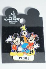 DISNEY Collectible Pin - Mickey,Winnie & Goofy Pin - (with name : Rachel)