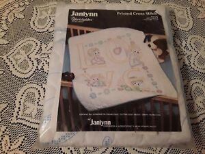"Vintage 1987 Janlynn Printed Cross Stitch Kir #78-24 Cherishables ""Love"" Quilt"
