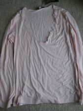 New Medium Pour Moi long sleeved pink nightwear top