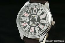 Playing cards Russian big solid men's wrist watch Full House Casino