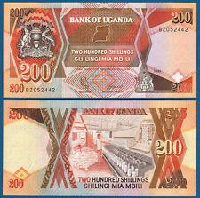 UGANDA  200 Shillings 1991  UNC  P. 32 b