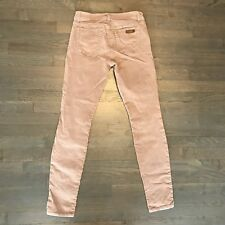 Joes Jeans Women's Corduroy Stretch Pants Sz 27 Beige Skinny Visionaire