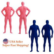 DH Zentai Suit Men's Spandex Lycra Halloween Full Body Costume Pink Blue