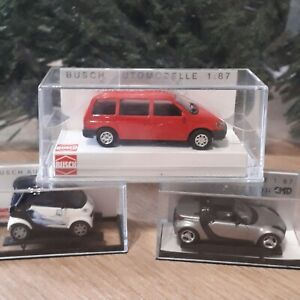 BUSCH H0  - Selection of 3 cars.