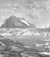 SWITZERLAND. Aletsch Glacier and Marjelen Lake, canton Valais 1893 old print