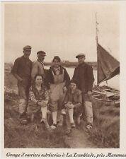 1926  --  GROUPE D OUVRIERS OSTREICOLES A LA TREMBLADE   3F067