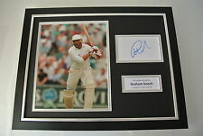 Graham Gooch SIGNED FRAMED Photo Autograph 16x12 display England Cricket & COA