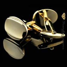 Quality Men's Gold Plated Oval Wedding Best Man's Groom's Cufflinks  #5