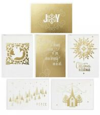 Hallmark Religious Faith Boxed Christmas Cards Assortment Gold Foil 48CT w/ Enve