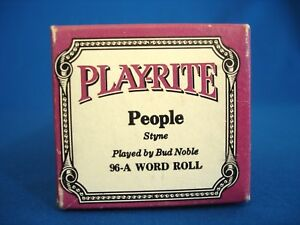 VINTAGE PIANO ROLL - PLAYRITE # 96-A WORD ROLL - PEOPLE