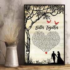 Luke Combs Better Together Lyrics Poster Unframe Paper Music Home Wall Decor Art