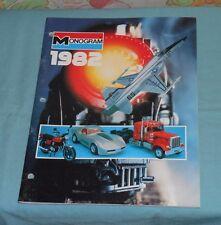 original 1982 MONOGRAM dealers' CATALOG toys models Snap-Tite