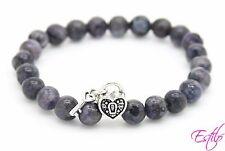Handmade Semi Precious Stone Bracelet Labradorite Beads Mother's Day Gift