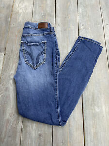 Hollister womens blue jeans high rise super skinny stretch size 7 R