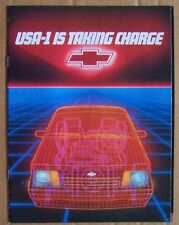 SALES BROCHURE ~ 1984 CHEVROLET ~ USA-1 IS TAKING CHARGE