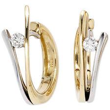 Ohrschmuck aus Weißgold mit Diamanten Schnappverschluss und SI Reinheit