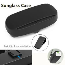 1*Glasses Case Car Sunshade Visor Holder Clips Sunglasses Box ABS Black Magnetic