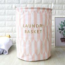 Foldable Large Storage Laundry Hamper Dirty Clothes Basket Cotton Washing Bag