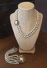 MIRIAM HASKELL BAROQUE PEARL  SET Necklace & Bracelet