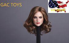 1/6 Female Head SHORT BROWN HAIR GC005 B / Phicen Hot Toys KUMIK ❶USA IN STOCK❶