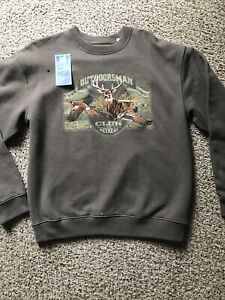 NWT Croft & Barrow Deer Outdoorsman Club Retreat Sweater Mens Embroidered Logo S