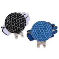 2 Pieces Novelty Glove Pattern Golf Hat Clip w/ Magnetic Ball Marker