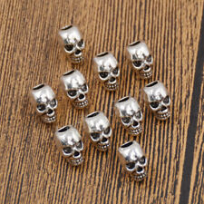 Punk Skull Hair Braid Dread Dreadlock Beads Cuff Clip Ring Headwear Jewelry