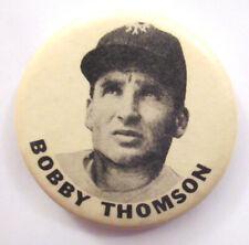 1950's NY Giants Bobby Thomson Baseball Pin Button