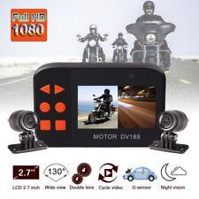 Motorcycle Bike Waterproof 1080P Cam HD Video DVR Camcorder Dual Lens Loop DV188