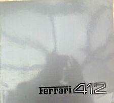 FERRARI 412 orig 1988 Large Format Prestige Sales Brochure Prospekt - #363/85