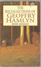 Henry Kingsley - The Recollections of Geoffry Hamlyn paperback 1975