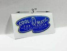 COOL-O-MATIC Car Cooler Sticker, evaporative swamp cooler decal, thermador