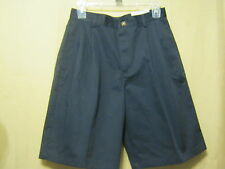 Izod Boys Pleated Shorts,Size 18,Navy/Dark Blue,Approved School Uniform,W-28/L-9